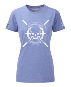 CW Barbell Club crossfit t-shirt blue dam