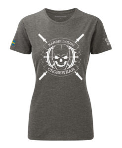 CW Barbell Club crossfit t-shirt grey dam