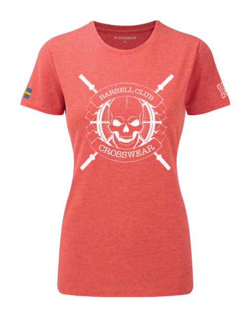 CW Barbell Club crossfit t-shirt red dam