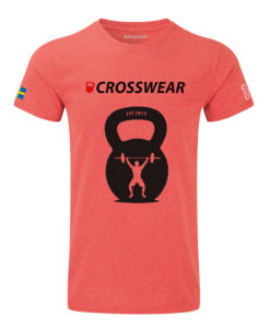 CW KB Snatch Crossfit t-shirt red