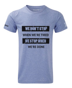 CW We Don't Stop crossfit t-shirt blue