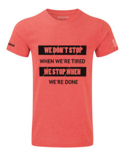 CW We Don't Stop crossfit t-shirt red