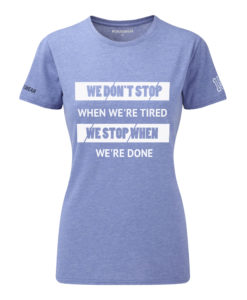 CW We Don't Stop crossfit t-shirt blue dam