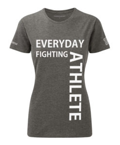 CW Everyday fighting athlete Crossfit t-shirt grey w