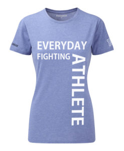 CW Everyday fighting athlete Crossfit t-shirt blue w