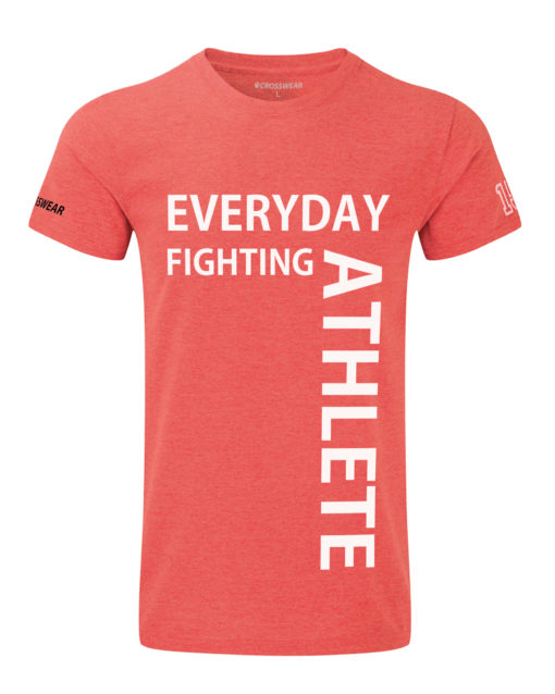 CW Everyday fighting athlete Crossfit t-shirt red