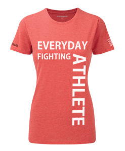 CW Everyday fighting athlete Crossfit t-shirt red w