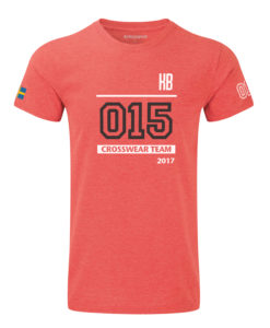 Crossfit competition t-shirt röd med text
