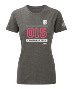Crossfit competition t-shirt grå