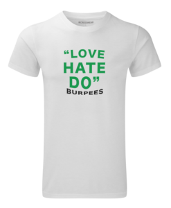 crossfit crosswear love burpees