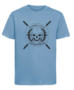 CW Kid Crossfit t-shirt Barbell Club blue