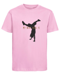 CW Kid Crossfit t-shirt next goal pink